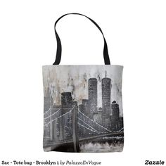 Sac - Tote bag - Brooklyn 1 Brooklyn, Reusable Tote Bags, Style, Swag, Outfits