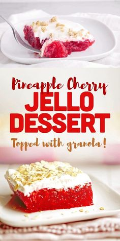 Low Calorie Desserts, Healthy Desserts, Easy Desserts, Jello Dessert Recipes, Cherry Jello Recipes, Flan, No Bake Summer Desserts, Cream Cheese Desserts, Easy Casserole Recipes
