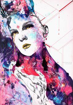 TFIU-web.,Portrait Painting Artist Study Minjae Lee ,Resources for Art Students, CAPI ::: Create Art Portfolio Ideas at milliande.com , Inspiration for Art School Portfolio, Portrait, Painting, Figure, Faces, Mixed Media, Head, Expression, Art Teacher