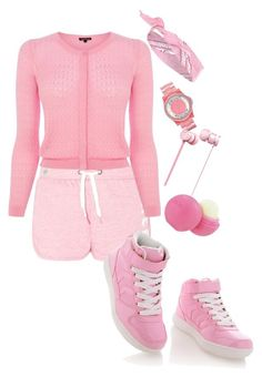 """""""pink_lemonade:-)"""" by jahyrahbaby ❤ liked on Polyvore featuring Timeless, Warehouse, River Island, Marc by Marc Jacobs, Beats by Dr. Dre and Eos"""
