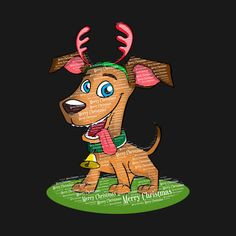 Check out this awesome 'Merry+Christmas+Dog+Desing' design on @TeePublic!  #Merry Christmas #albaley