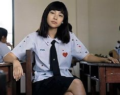 "'Kitty' Chicha Amatayakul in ""Girl From Nowhere"" Purple Wallpaper Iphone, Netflix, Bad Girl Aesthetic, Girl Short Hair, Actor Model, Halloween Outfits, Best Actress, Girl Crushes, Dramas"