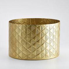 Vase cache-pot, métal embossé, Erledur La Redoute Interieurs   La Redoute Mobile