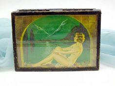 shopgoodwill.com: 1920s Art Deco Cigarette Box with Mirror