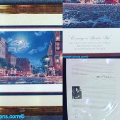 """John Morton Barber limited-edition print titled """"Evening in Shockoe Slip"""", signed in pencil and numbered 209/950; bronze finish frame measures 25 x 34"""". Bids close Thurs, 26 Jan, from 11am ET. http://bid.cannonsauctions.com/cgi-bin/mnlist.cgi?redbird103/300"""