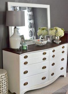 Furniture, Before And After DIY Bedroom Dresser Makeover With 10 ...