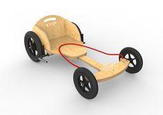 Billedresultat for diy wooden go kart Fun Projects, Wood Projects, Woodworking Projects, Kids Go Cart, Toys For Boys, Kids Toys, Wooden Go Kart, Wood Cart, Diy Go Kart