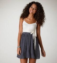How adorable is this dress? Stars & Lace dress from American Eagle