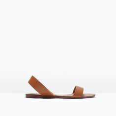 Image 1 of FLAT LEATHER SANDALS from Zara