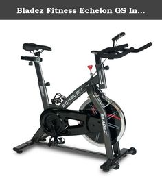 Bladez Fitness Echelon GS Indoor Cycle, 48.8 x 19.8 x 43.3-Inch. Features large 40lb flywheel and oversized steel frame to deliver incredible feel for a great workout. Smooth and quiet belt drive doesn't disturb anyone and full fore/aft and up/down adjustments on both handlebars and seat make for a perfect fit. LCD console provides motivational feedback, while multi-grip racing style handlebars ensure a comfortable workout. Most road and mountain bike seats and pedals are compatible with...
