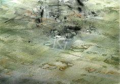 GRISAZUR: Acuarela sobre papel, 17x23 cm.May. 9, 2016