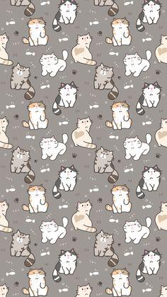 The post Wallpaper 440 appeared first on Fosforlu Dnceler! Wallpaper Gatos, Cat Pattern Wallpaper, Iphone Wallpaper Cat, Tier Wallpaper, Cute Cat Wallpaper, Kawaii Wallpaper, Cute Wallpaper Backgrounds, Animal Wallpaper, Cute Cartoon Wallpapers