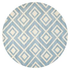 Safavieh Grayson Hand-Tufted Wool Rug, Blue/Ivory