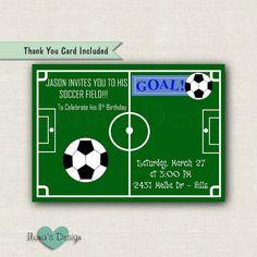 Soccer Invitation Soccer Birthday Invitation by IlonasDesign