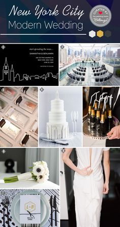 NYC Inspires a Modern Wedding with Minimalist Details http://www.bellenza.com/wedding-ideas/decorate/a-classic-new-york-city-theme-styling-inspiration-with-modern-details.html