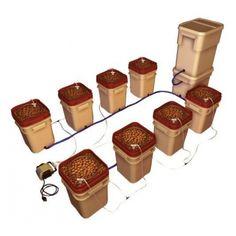 General Hydroponics WaterFarm 8 Pack Drip Hydroponic System