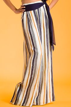 Women's Clothing Responsible Courtenay Elastic Waist Multicolor Palazzo Pants Size Petite Large Stretch