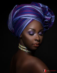 Title: All Wrapped Up Model: Makeup: Head wrap: Wrapped by: Jewelry: Assistant: Black Women Art, Beautiful Black Women, Black Girls, Beautiful People, African Beauty, African Women, African Fashion, African Head Wraps, Black Girl Magic