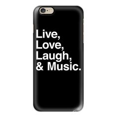 iPhone 6 Plus/6/5/5s/5c Case - Live Love Laugh and Music ($40) ❤ liked on Polyvore featuring accessories, tech accessories, iphone case, apple iphone cases, slim iphone case and iphone cover case