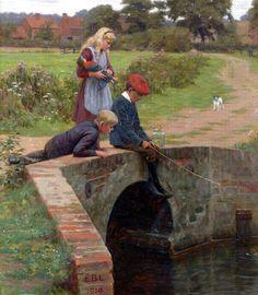 Edmund Blair Leighton (British painter) 1852 - 1922, Le Billet Doux, 1915. A Love  Letter