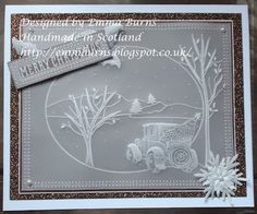 Handmade in Scotland: Santa's Car and Groovi Plates Tutorial