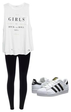 """Dance class! "" by solenim on Polyvore featuring MANGO and adidas Originals"