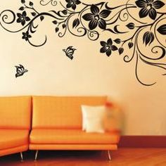 Removable Vine Flower Mural Wall Paper Sticker Decal