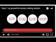 Easy 1 up powerful money making system