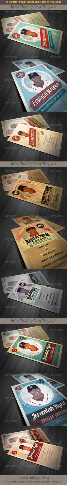 Retro Trading Card Template 3 Card templates, Trading cards and - trading card template