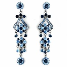 "4"" Navy and light Blue Chandelier Earrings - so nice!"