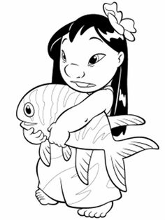 Lilo & Stitch coloring pages - Coloring pages for kids - disney coloring pages - printable coloring pages - color pages - kids coloring pages - coloring sheet - coloring page - coloring book - cartoon coloring pages Stitch Coloring Pages, Fish Coloring Page, Pokemon Coloring Pages, Cool Coloring Pages, Cartoon Coloring Pages, Disney Coloring Pages, Adult Coloring Pages, Coloring Pages For Kids, Coloring Sheets