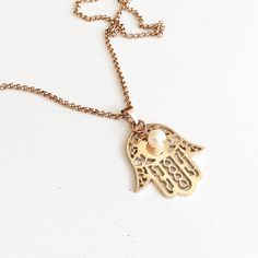 Rose gold Hamsa necklace, Hamsa hand necklace, Hand of Fatima, Spiritual Jewellery, Rose gold jewellery by rubybluejewels by Rubybluejewels on Etsy https://www.etsy.com/au/listing/518577530/rose-gold-hamsa-necklace-hamsa-hand