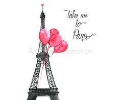He encontrado este interesante anuncio de Etsy en https://www.etsy.com/es/listing/221211458/paris-art-take-me-to-paris-eiffel-tower