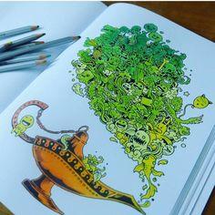 Doodle invasion by @lazycat94  #doodles #mandala #art #arttherapy #doodlemorphia #animorphia #doodleinvasion #kerbyrosanes #coloring #painting #coloringbook #arteterapia