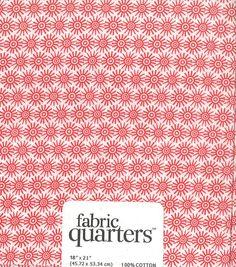 Fabric Quarters Assorted Fabric White