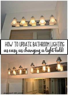 Ugly Bathroom Light Fixtures trash to treasure: how to paint a bathroom light fixture | lights