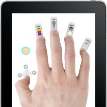 Adobe Eazel, multitouch navigation for controlling tools, colors and sizes?