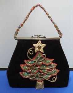 Mary Frances Handbag Christmas Tree Beaded By Reoccuringdreams