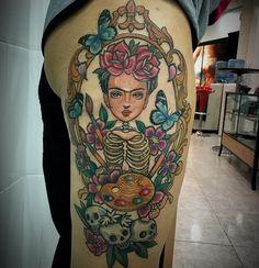 3 sesión Frida Kahlo !!! Muchas Gracias Carmen !!! #tattoo #tattoos #tatuaje…