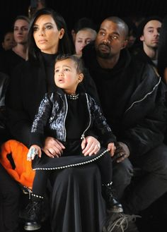 Pin for Later: The Stars Continue to Catch Our Eye as Fashion Month Moves Along Kim Kardashian, North West, and Kanye West at NYFW It was a true family affair at Alexander Wang. Even North showed up to watch her aunt, Kendall Jenner, walk the runway.