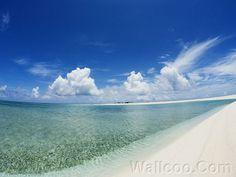 Refreshing Okinawa Beach - Okinawa's blue sky and Sea  - Okinawa Panoramic View Wallpaper - Okinawa White Beach under blue sky10