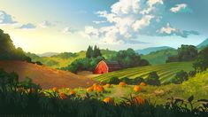 Kai Fine Art is an art website, shows painting and illustration works all over the world. Landscape Concept, Fantasy Landscape, Landscape Art, Landscape Paintings, Fantasy Art, Landscapes, Environment Painting, Environment Concept, Environment Design