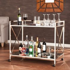 Southern Enterprises Maxton Bar Cart | from hayneedle.com $250