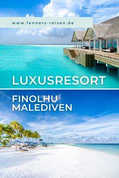 """Sie sind auf der Suche nach einem Luxusresort auf den Malediven? Dann ist das außergewöhnliche Finolhu Resort bestimmt etwas für Sie. In insgesamt 125 Villen auf Stelzen über der Lagune oder am Strand finden die Gäste Platz und Privatsphäre. Am Pool und in der Bar bieten Live-Bands und renommierte DJs Party-Stimmung. Und als erstes Resort der Malediven bietet es """"Glamping im Bubble"""" an. #fennersreisen Boutique Hotels, Bali, Glamping, Bubble, Live, Movie Posters, Movies, Maldives Islands, Seychelles"""
