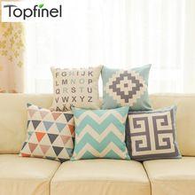 Top Finel 2016 geométrica linho algodão decorativa lance fronha capa de almofada criativo para sofá carro cobre 45 X 45 cm(China (Mainland))