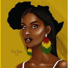 Bennie buatsie is giving us artistic and melanin filled makeup Black Love Art, Black Girl Art, My Black Is Beautiful, Black Girls Rock, African American Art, African Art, African Drawings, Black Girl Cartoon, Black Art Pictures