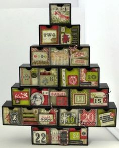 Countdown to Christmas with an advent tree! #beverlys #diy #xmas #advent #papercrafting