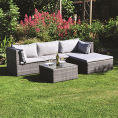Kingfisher Sectional Sofa Set with Cushions