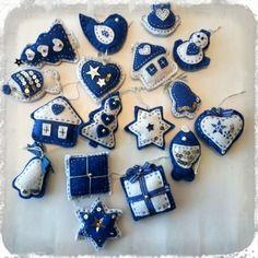 Filcové ozdoby od Kutílka Cookies, Christmas, Biscuits, Navidad, Weihnachten, Cookie Recipes, Christmas Music, Noel, Xmas