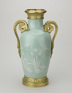Jingdezhen, Jiangxi Province, China - Pair of vases, 1750-1799; French mounts: 1750-75